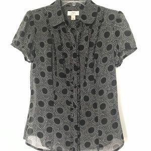 Ann Taylor LOFT Button-up short sleeve blouse